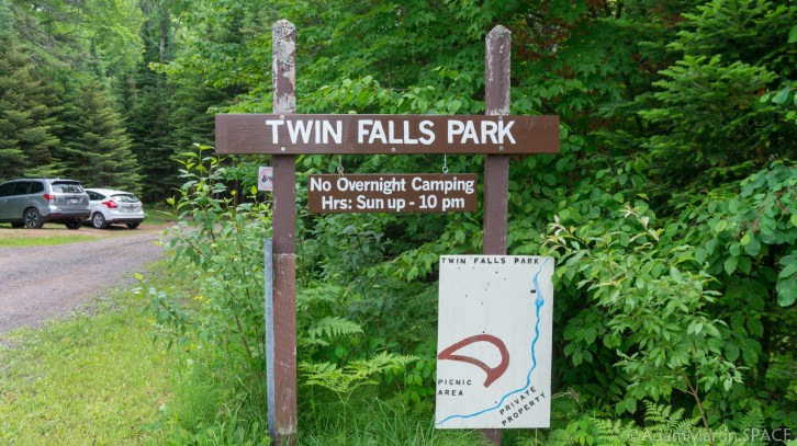 Twin Falls County Park entrance sign