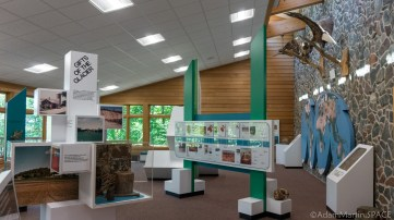 Interstate State Park - Displays inside the Ice Age Interpretive Center