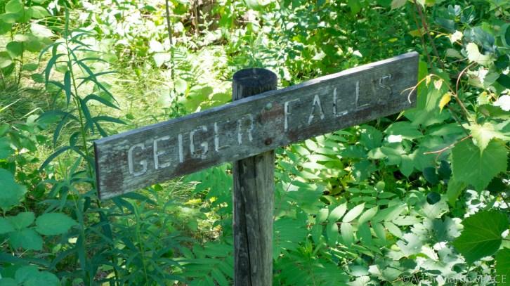 Geiger Falls sign