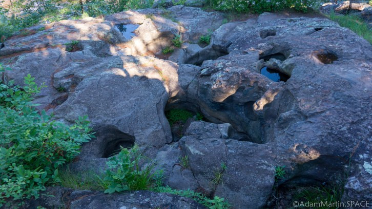 "Interstate State Park - ""Potholes"" on the Pothole Trail show evidence of glaciation"