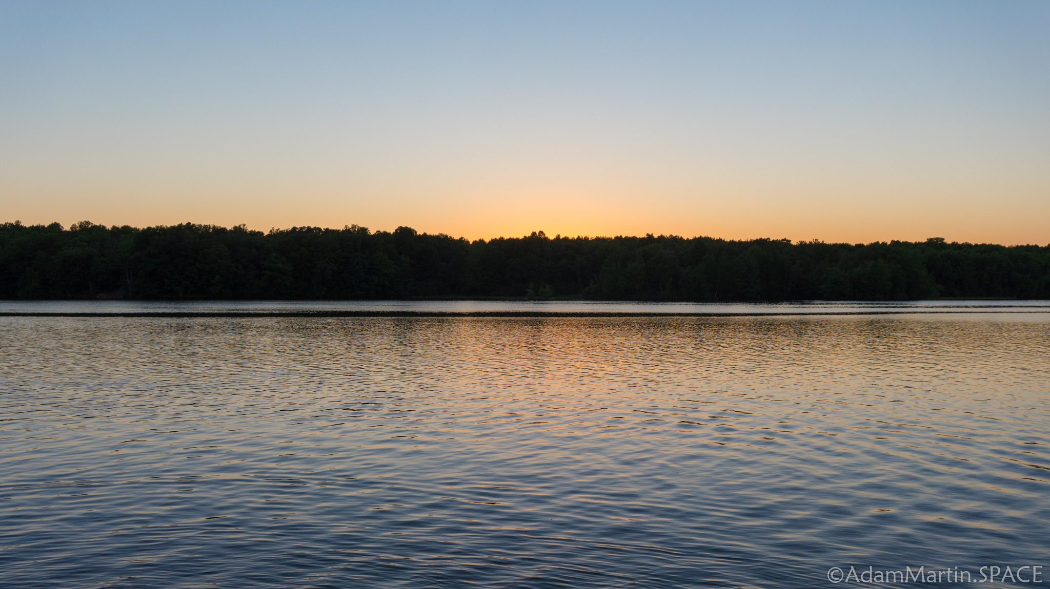 Council Grounds State Park - Sunset across the Wisconsin River