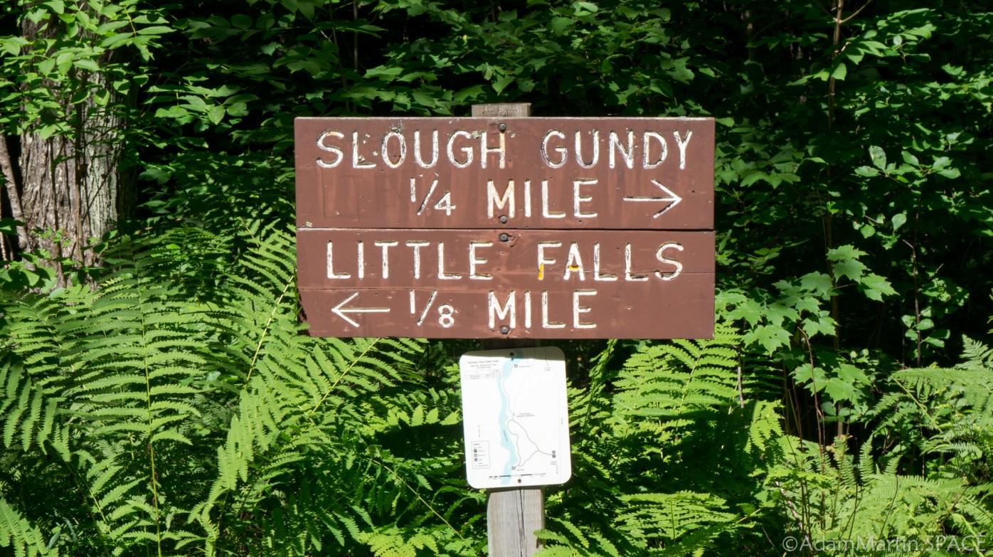 Little Falls (Winter, Wisconsin) - Fork in the trail