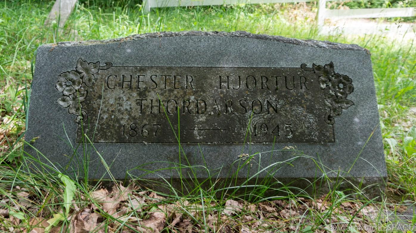 Rock Island State Park - Chester H Thordarson gravestone