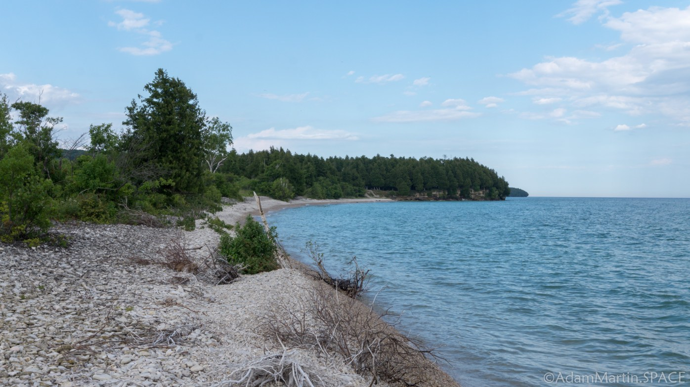 Rock Island State Park - View from far SW island peninsula