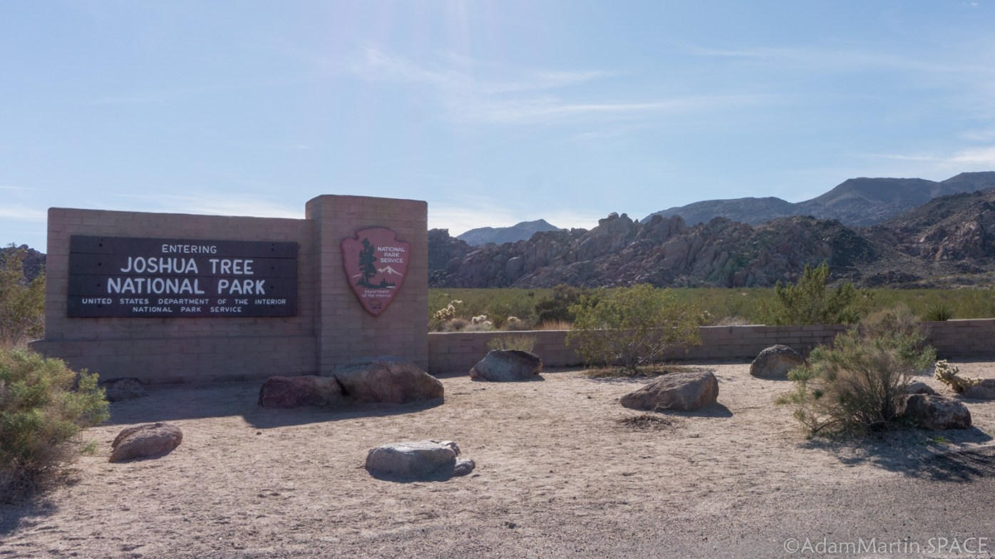 Joshua Tree National Park - Entrance Sign
