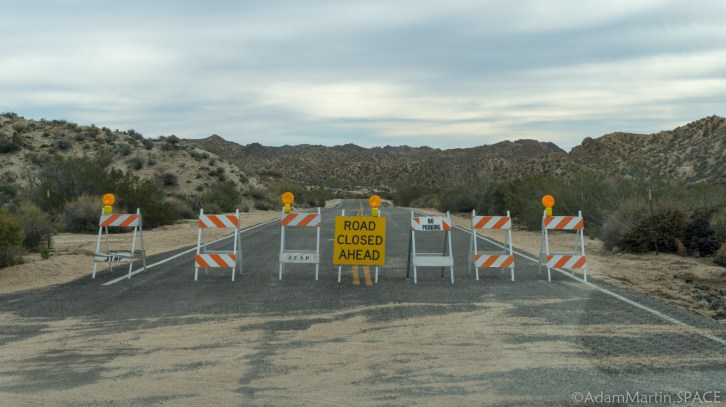 Joshua Tree - Cottonwood Spring Road Closed