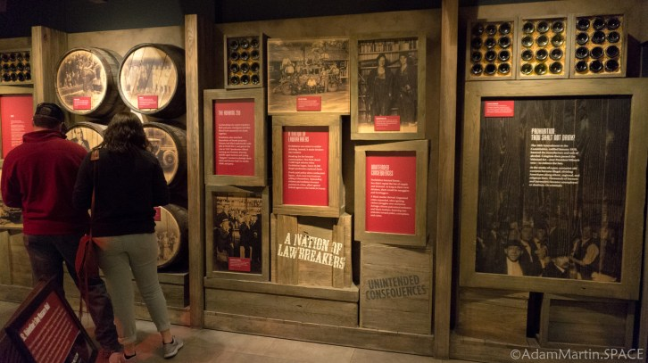 The Mob Museum - Prohibition displays