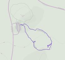 GaiaGPS hiking data @ Joshua Tree - Cap Rock Nature Trail