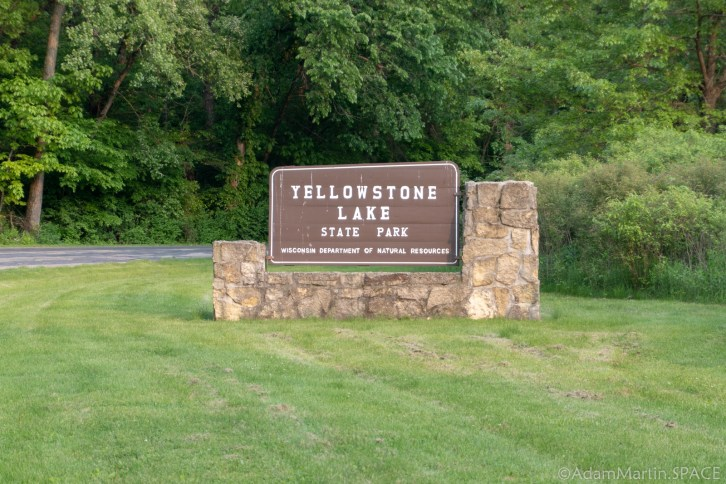 Yellowstone Lake State Park - Entrance Sign