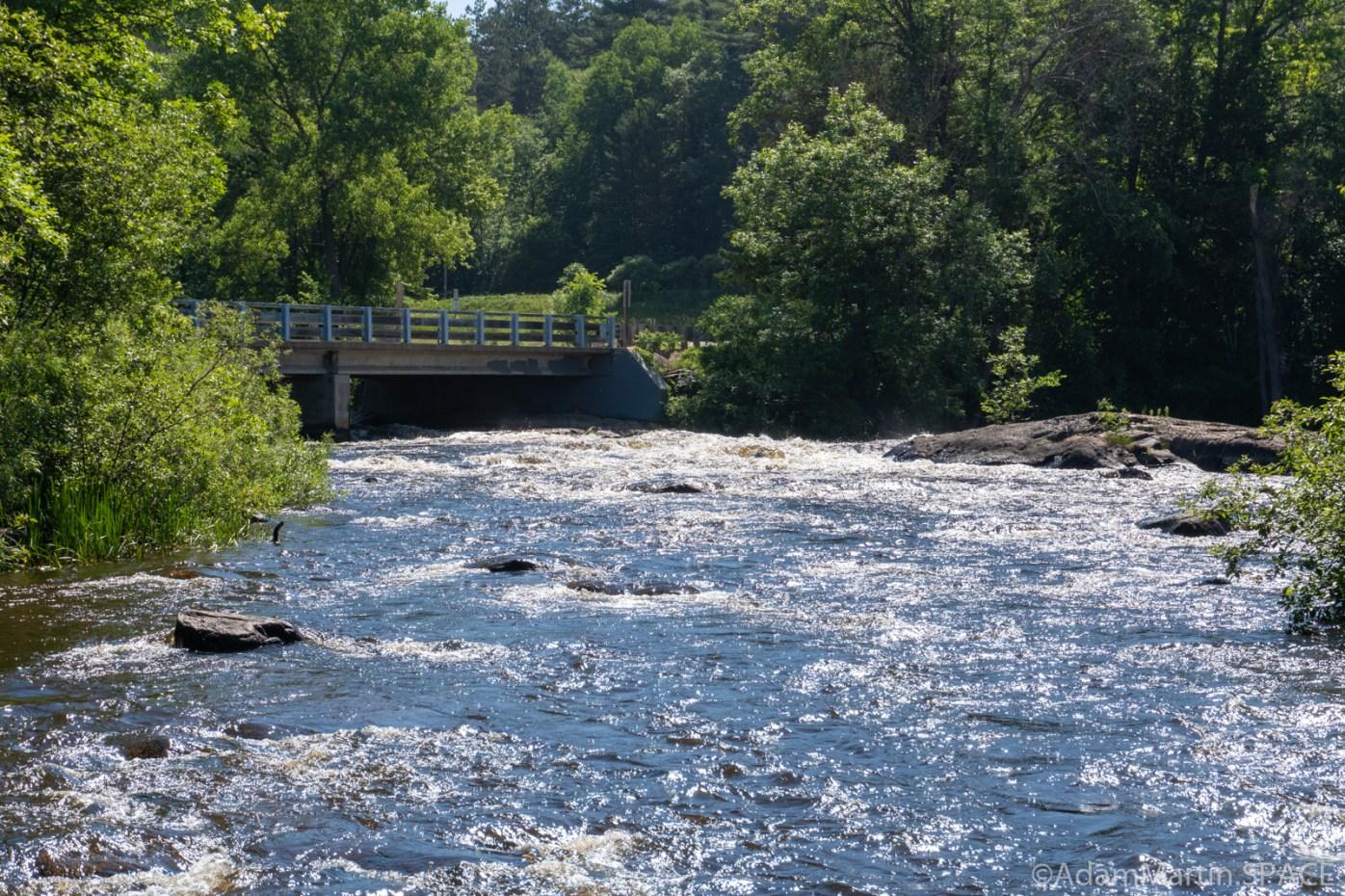 Keshena Falls - View upstream near falls