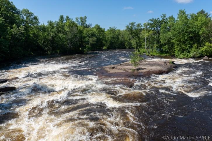 Keshena Falls - View downstream from bridge