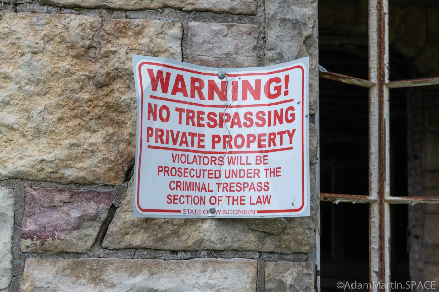 Alexian Brothers Novitiate - WARNING NO TRESPASSING