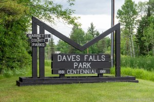 Dave's Falls County Park - Entrance Sign