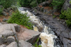 Dave's Falls – Looking upstream at the lower falls section