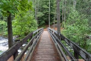 Dave's Falls - Bridge crossing Pike River
