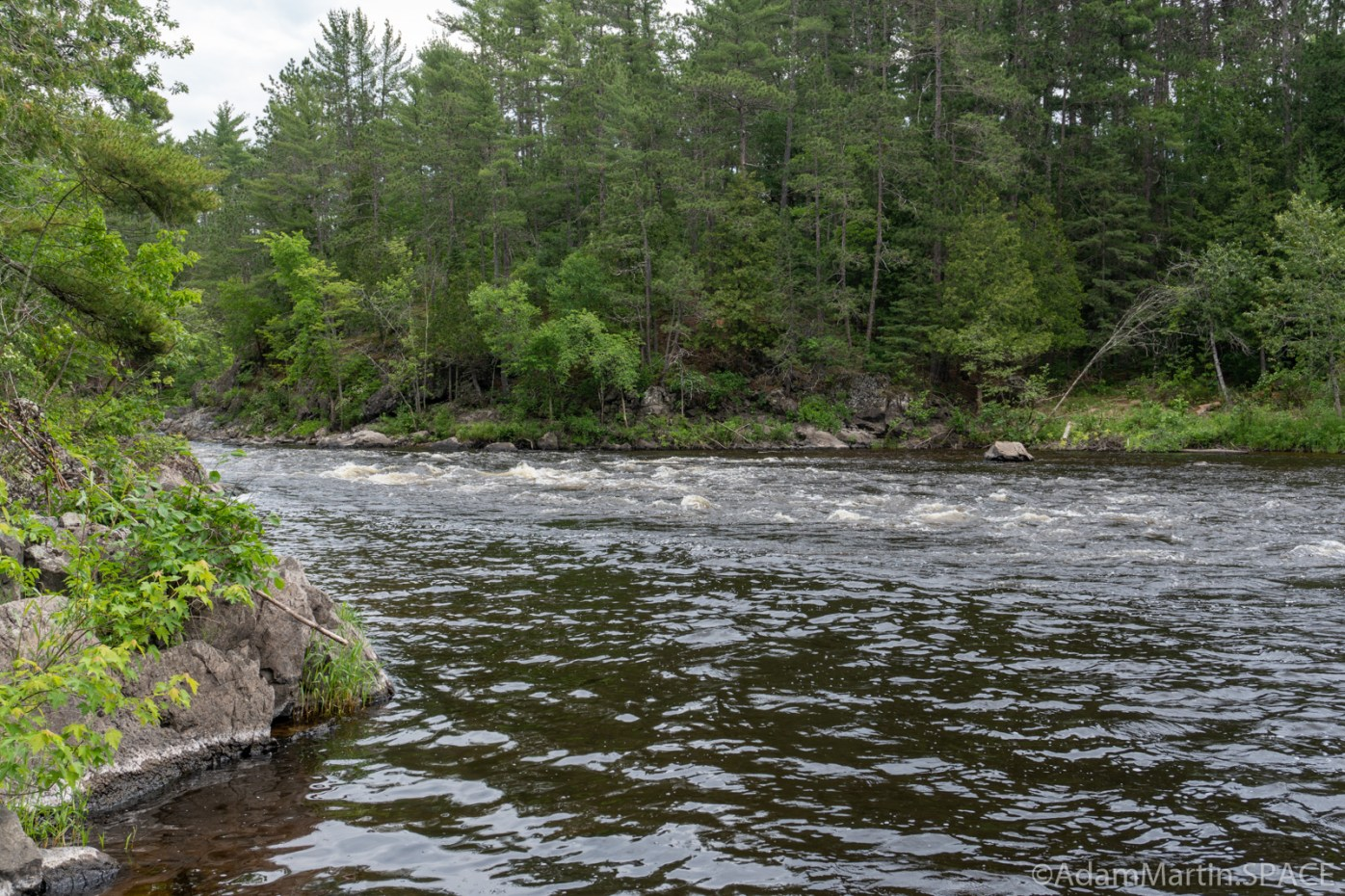 Quiver Falls Rapids - Views downstream on Menominee River