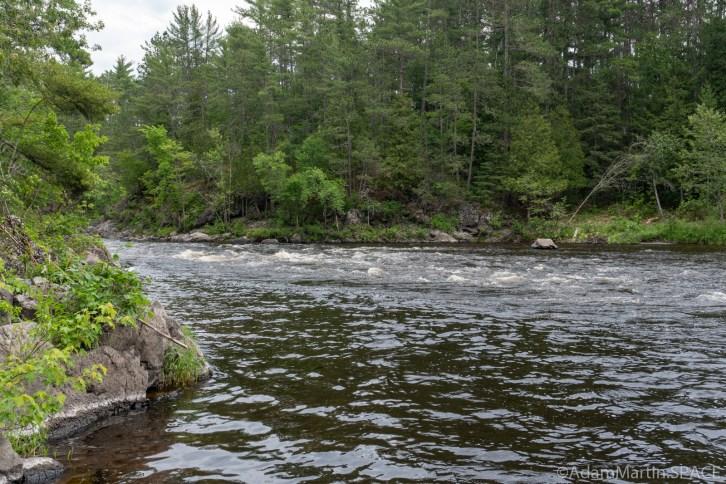 Quiver Falls Rapids - Views downstream on Menominee River