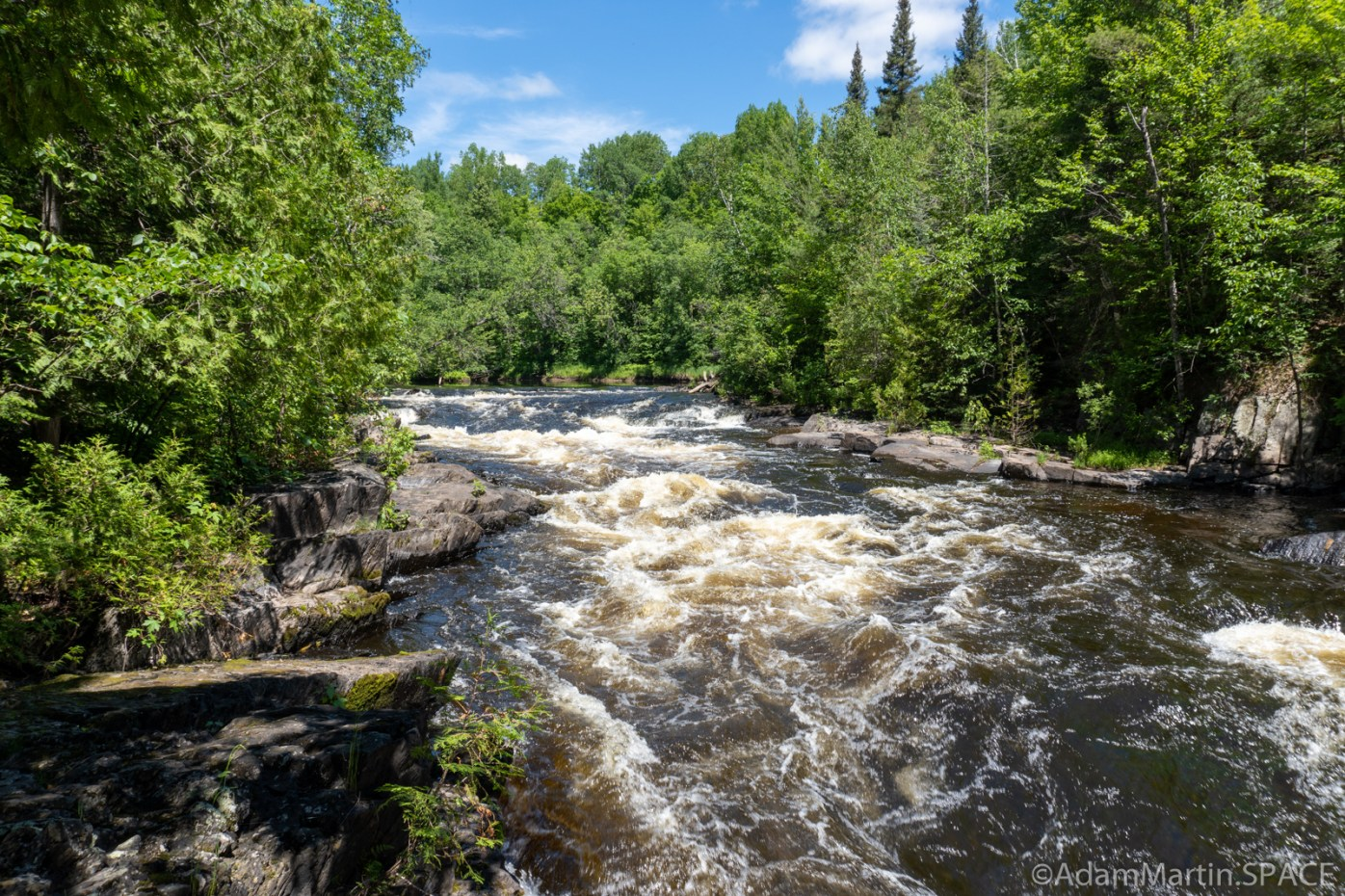 LaSalle Falls - Upstream view of falls/rapids