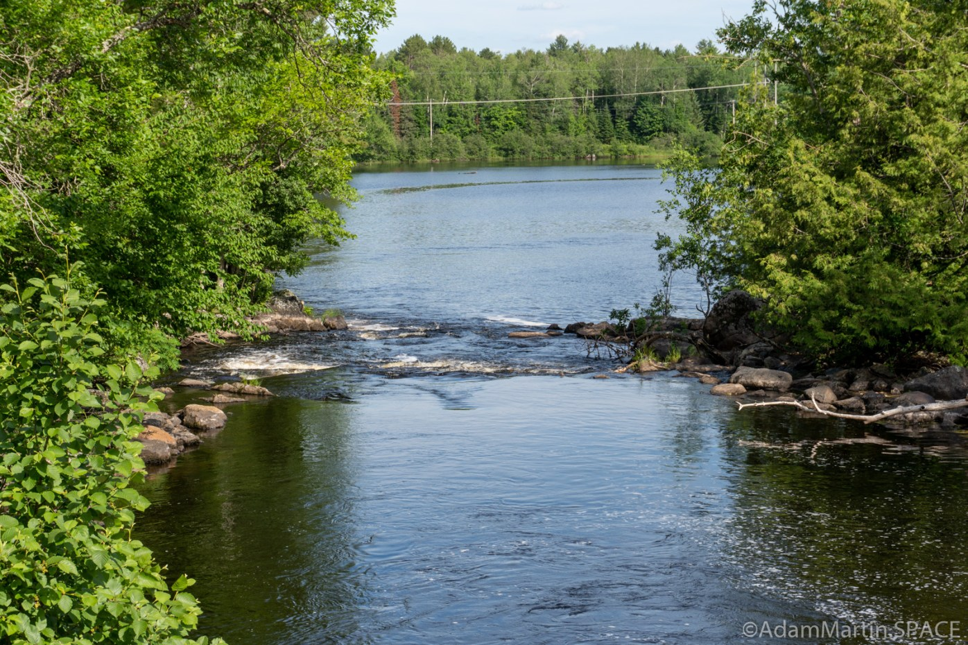 Lake of the Falls - Looking downstream from bridge