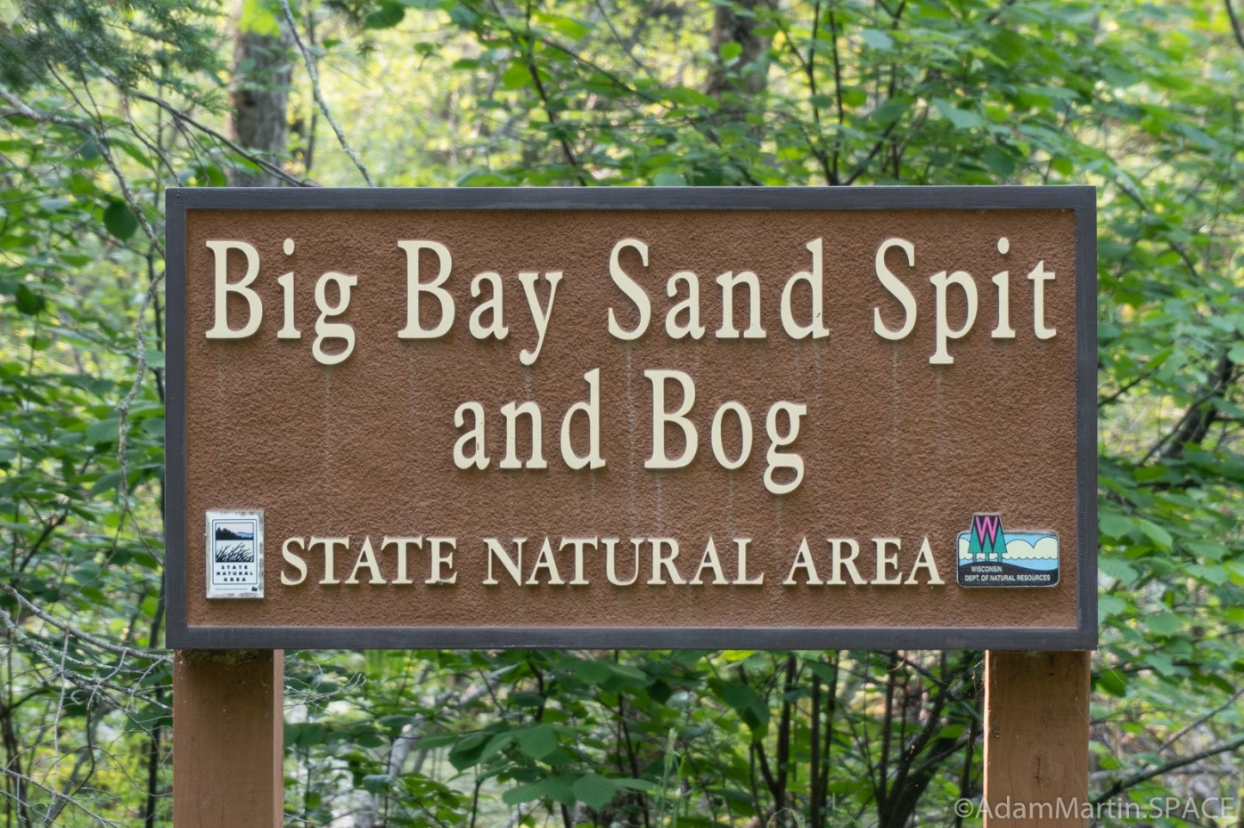 Big Bay State Park - Sign for Big Bay Sand Spit and Bog State Natural Area
