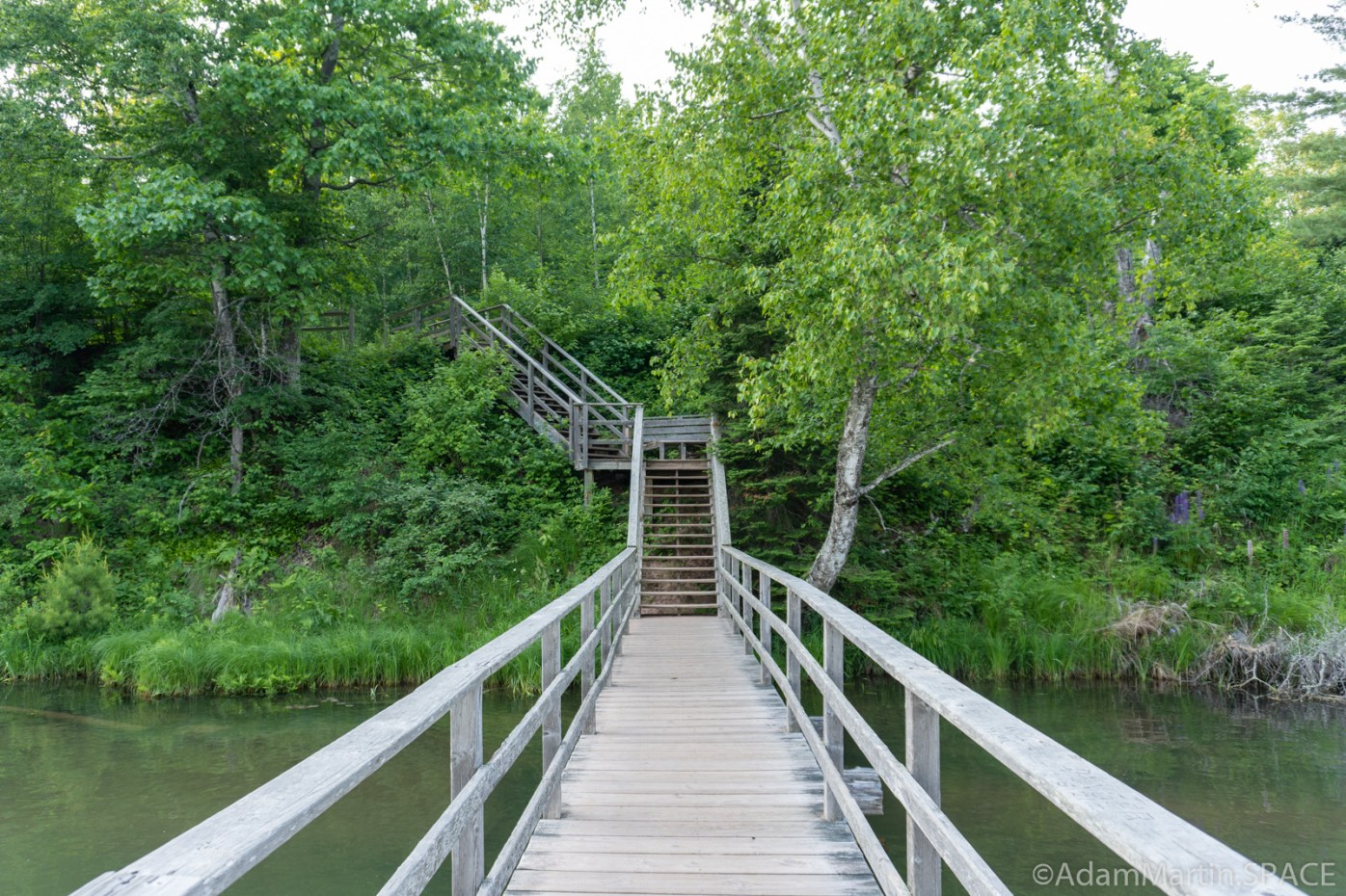 Big Bay State Park - Stairs across lagoon leading to Big Bay Town Park