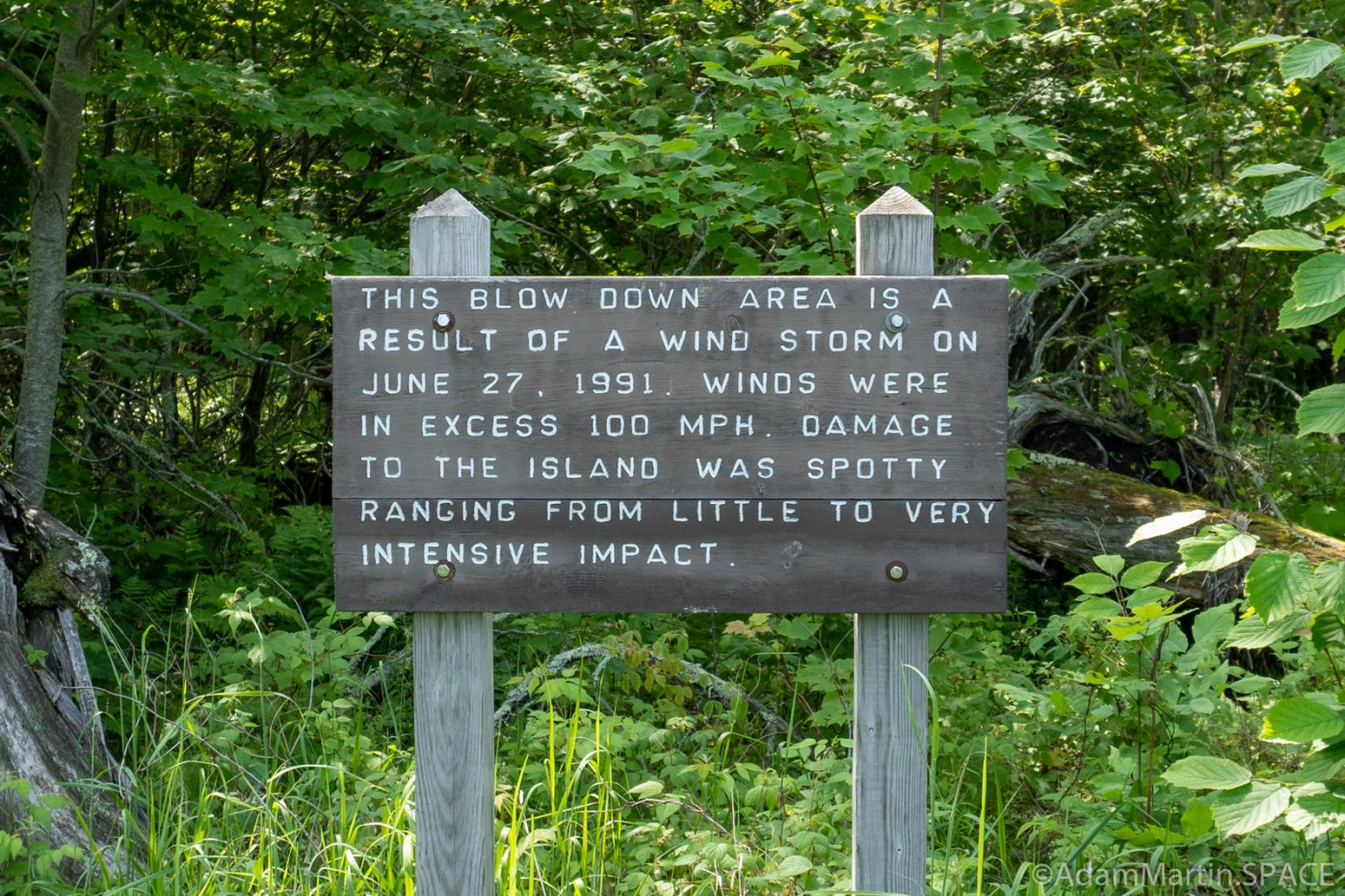 Big Bay State Park - Blow Down Sign