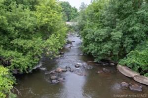 Duncan Creek Rapids - Downstream view from bridge at Columbia Street