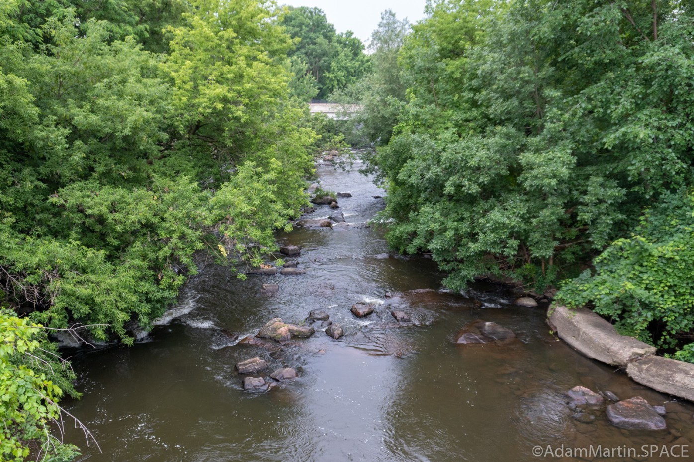 Duncan Creek Rapids - Downstream view from bridge at Columbia Street