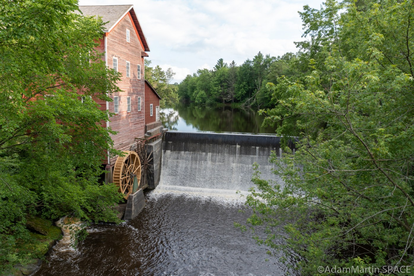 Dells Millpond - Spillway into Bridge Creek