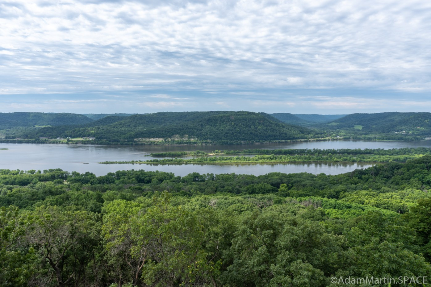 Perrot State Park - View across Trempeauleau Bay from atop Perrot Ridge