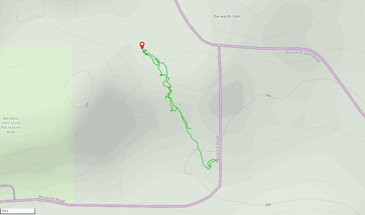 GaiaGPS hiking data @ Durward's Glen