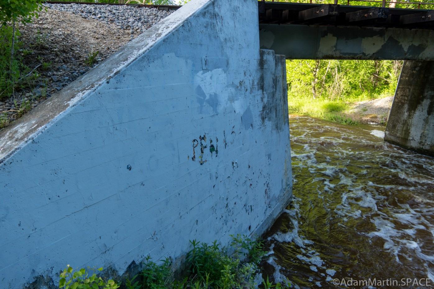 Baird Creek - PENIS grafitti