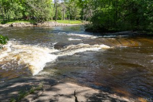 Little Bull Falls (Shawano) - View from directly beside/above the falls