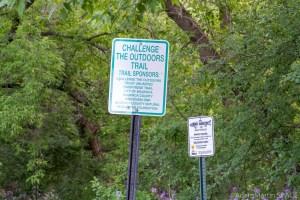 Waupaca Falls - Trail & Trout signs