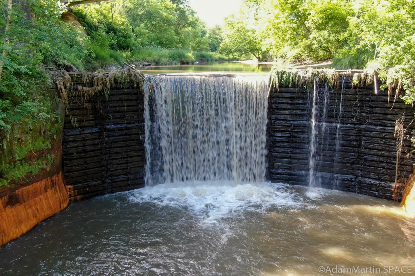 Douglas Mill Pond Spillway - Aerial view via Mavic 2 Zoom