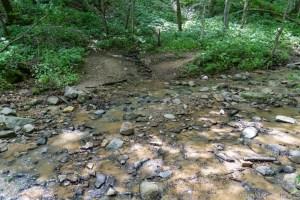 Tripp Falls - Crossing into the creek