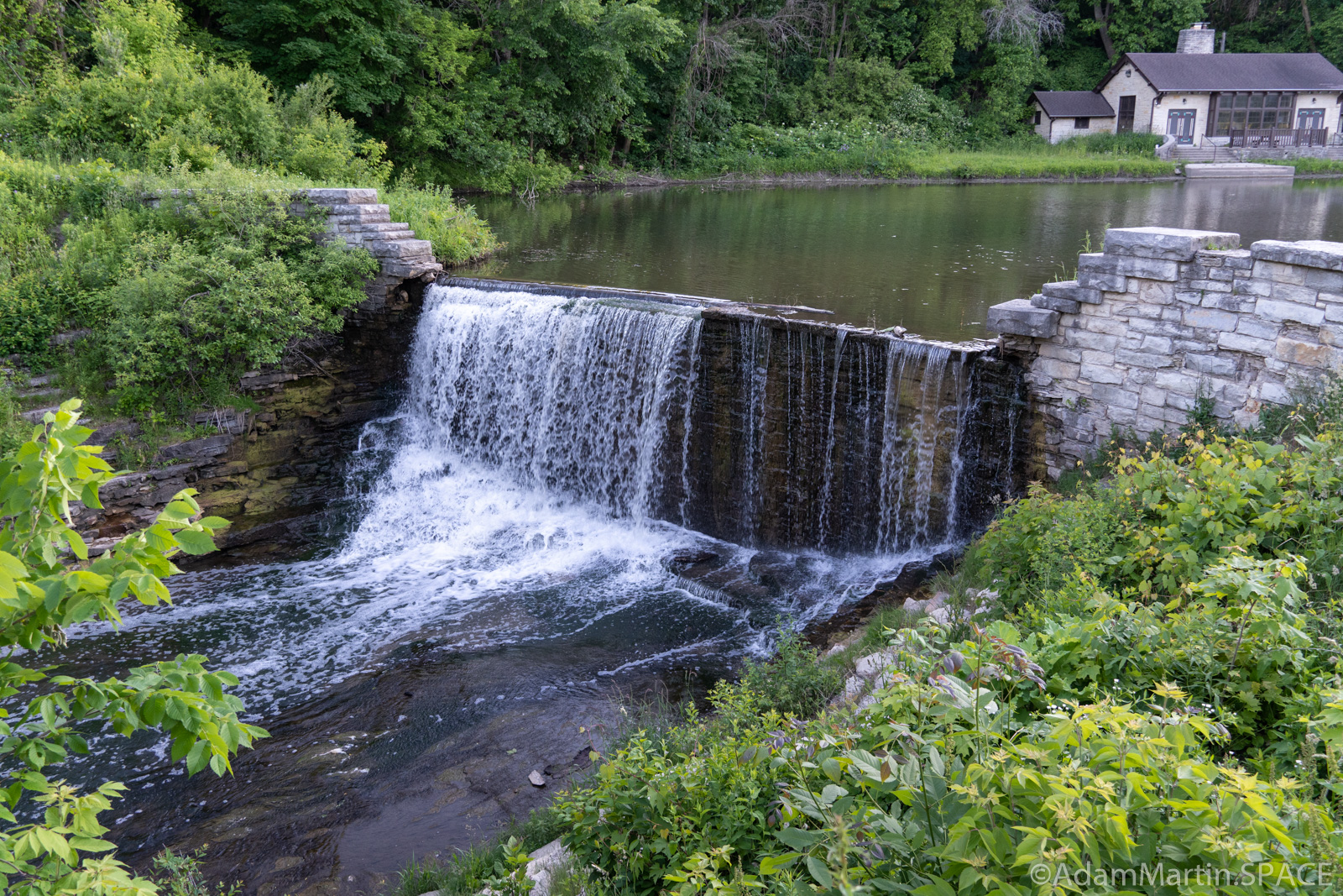 Mill Pond Spillway - Angle View