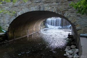 Mill Pond Spillway - View through the tunnel