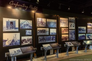 """Homestead National Historical Park - """"Confronting Reality"""" display"""