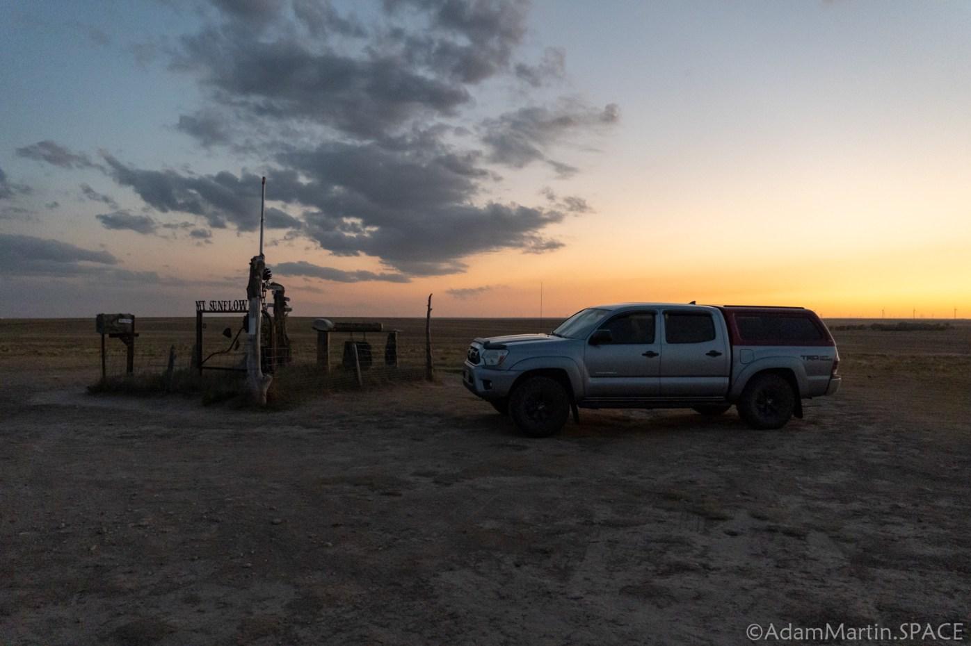 Mount Sunflower - Gratuitous Toyota Tacoma Sunset Photo