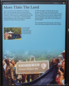 """Nicodemus National Historic Site - """"More Than The Land"""" Sign"""