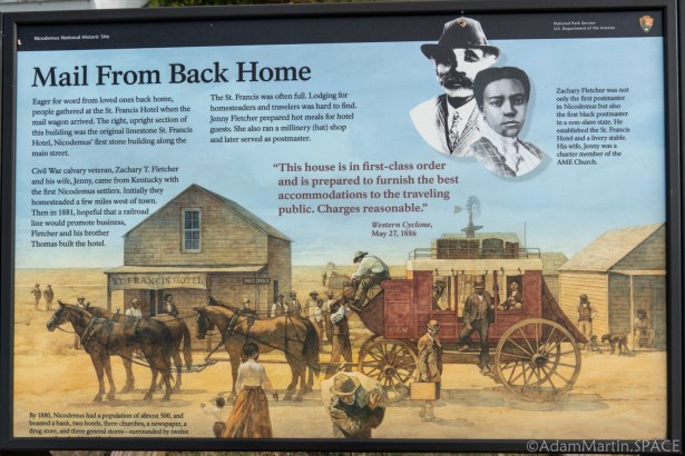 """Nicodemus National Historic Site - """"Mail From Back Home"""" Sign"""