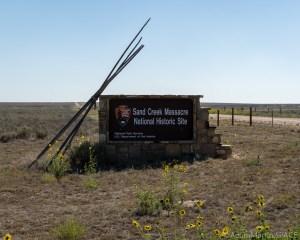 Sand Creek Massacre National Historic Site - Entrance Sign