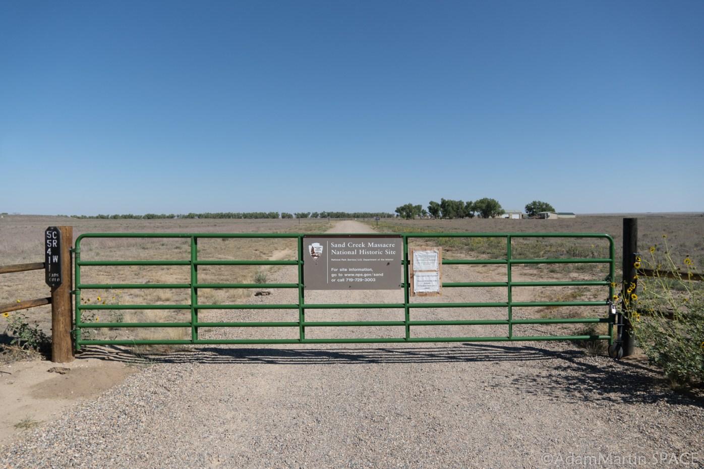 Sand Creek Massacre National Historic Site - Gate Closed