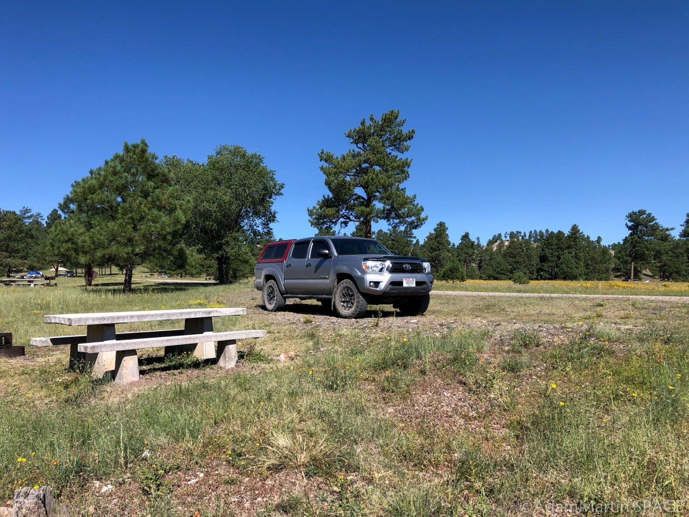 Choosing a campsite at Dipping Vat Campground