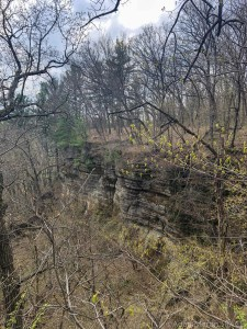 Cliffside views from on top of Enee Point area