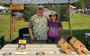 Art In The Park - David and Val Hedquist at their book signing & birdhouse booth