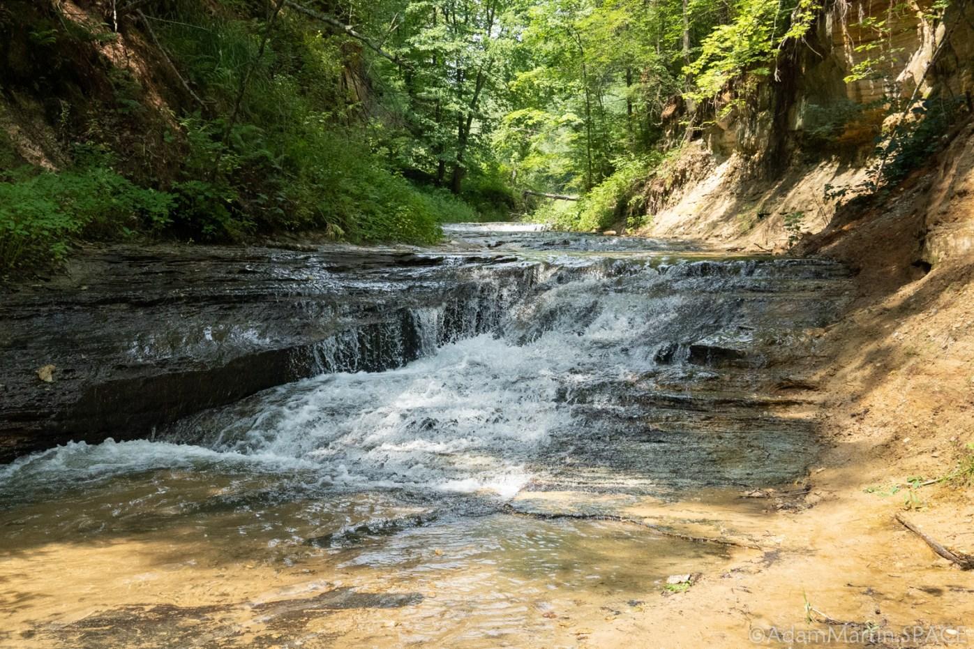 Lost Falls on Roaring Creek in Black River Falls, Wisconsin