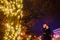 Arlington wedding outdoor portraits on New Year's Eve wedding by Washington DC Wedding Photographer Adam Mason
