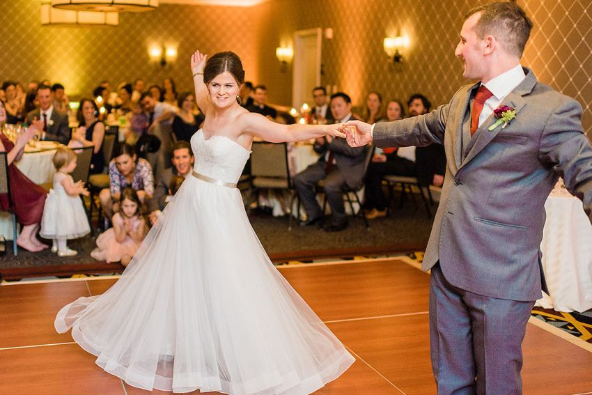 first dance at Alexandrian Hotel Wedding by Washington DC Wedding Photographer Adam Mason